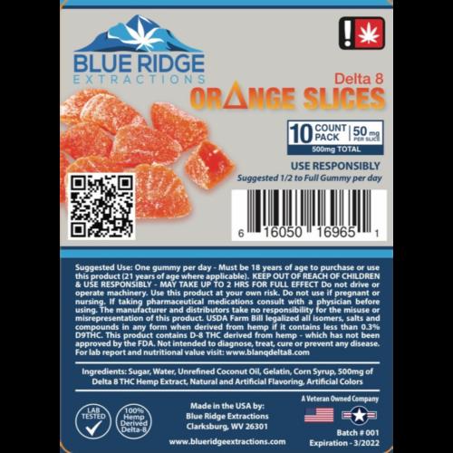 orange slice gummies potent 50mg per gummy 250mg 500mg psychoactive delta 8 thc