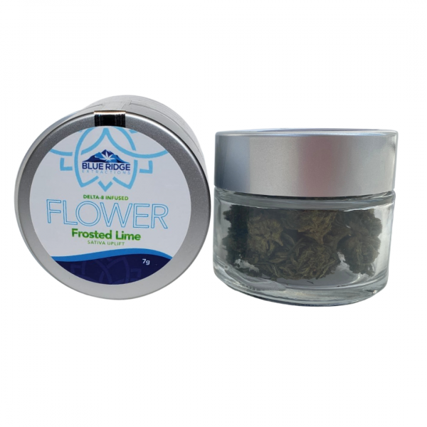 frosted lime delta 8 d8 thc infused hemp cbd flower smokable 3.5g 7g